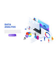 data analysis design concept with people and vector image vector image