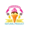 Dessert icon of vanilla ice cream and lemon vector image vector image