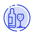 drink bottle glass love blue dotted line line icon vector image