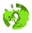 earth globe model with green extruded lands vector image vector image