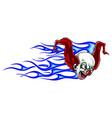 evil cartoon clown clip art vector image
