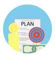 financial plan of success vector image vector image