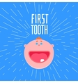 First boys tooth greetings vector image vector image