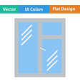 Flat design icon of closed window frame vector image vector image