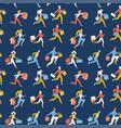 flat seamless pattern trendy running girls vector image vector image