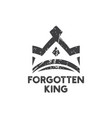 forgotten king logo icon design template vector image