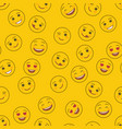 funny emoticons seamless pattern template vector image vector image