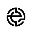 geometric letter e initial logo vector image vector image