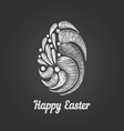 Greeting card with doodle easter egg-3 vector image vector image