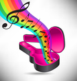 Guitar Case Rainbow notes vector image vector image