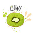 hand draw qiwi green qiwi vector image vector image