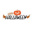happy halloween party title logo template bat vector image vector image