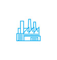 industrial facility linear icon concept vector image
