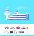 international passenger airport guide template vector image vector image