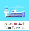 international passenger airport guide template vector image