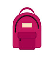 isolated backpack icon vector image
