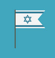 israel flag icon in flat design vector image