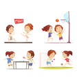 kids sport 2x2 design concept vector image
