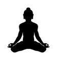 krishna silhouette traditional religion vector image