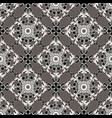 lace textured black and white baroque seamless vector image vector image