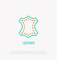 leather thin line icon modern vector image vector image