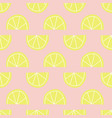 lemon slices seamless pattern yellow pink vector image vector image