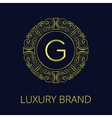 Luxury Vintage Frame Monogram G vector image vector image
