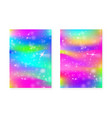 magic background with princess rainbow gradient vector image vector image