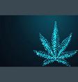 marijuana cannabis leaf abstract 3d polygonal vector image