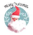 Merry christmas cute santa claus face vector image