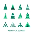 Merry Christmas Tree Collection vector image vector image