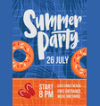 modern flyer or poster template for summer open vector image