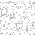 mountain hug pattern vector image vector image
