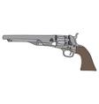 Old american handgun vector image vector image