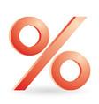 percent symbol vector image
