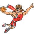 pilot sports logo mascot basketball vector image vector image