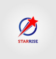 rising star company business logo sign symbol icon vector image vector image