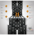 Road And Street Traffic Sign Business Infographic vector image vector image