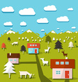 Rural Mountain Landscape vector image vector image