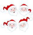 Santa Claus Face Expressions vector image