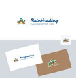 scenery logotype with business card template vector image vector image