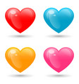 set colorful hearts isolated on white vector image vector image