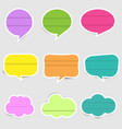 set colorful speech text labels vector image vector image