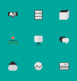 set of simple trade icons vector image vector image