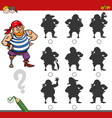 shadow game activity with pirate vector image vector image