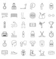 sport life icons set outline style vector image