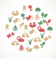 Spring icons vector | Price: 1 Credit (USD $1)