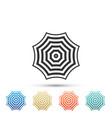 sun protective umbrella fo beach icon isolated vector image vector image