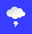 thunderstorm weather forecast icon lightning bolt vector image vector image