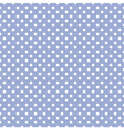 Tile white polka dots on blue background pattern vector image vector image